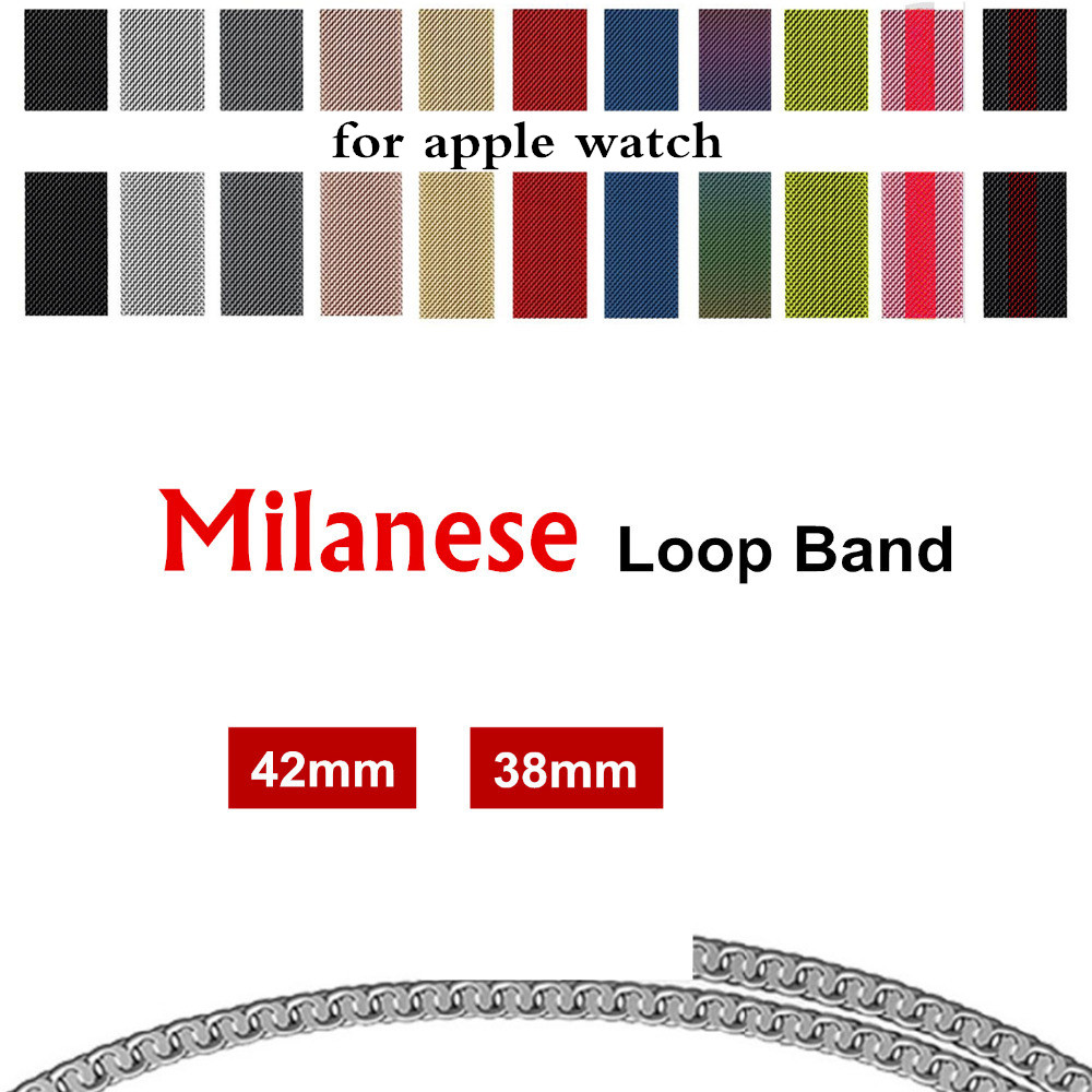 EIMO for apple watch band Milanese loop men watch 42mm 38mm iwatch series 3 2 1 strap Stainless Steel Bracelet wrist belt luxury ladies watch strap for apple watch series 1 2 3 wrist band hand made by crystal bracelet for apple watch series iwatch
