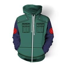Japanese anime Comic NARUTO Hoodies Zipper Clothing hooded sweatshirt Unisex Adult casual hoodie Coat Jacket Tops Coats