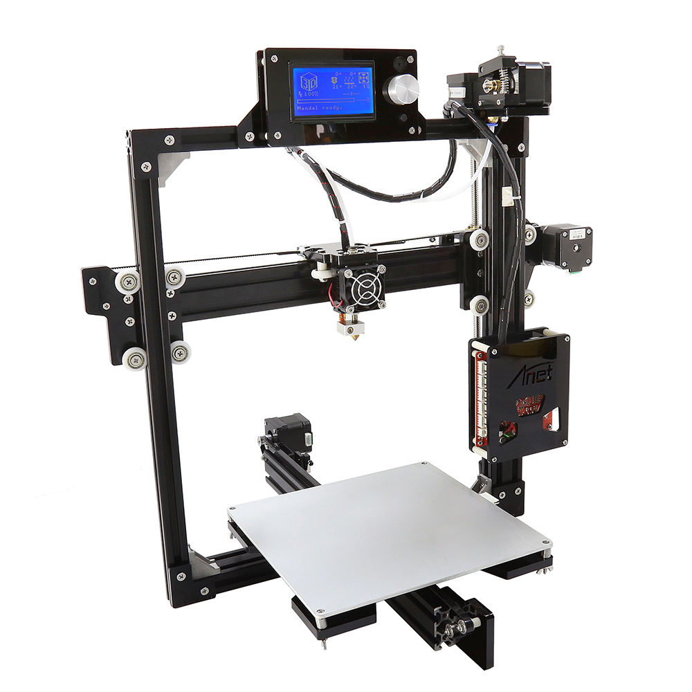 Anet A2 3d-printer diy Large Printing Size 220*220*220mm Precision DIY 3D Print with Filament & Card &Video Free 2017 anet a8 3d printer high precision reprap impressora 3d printer kit diy large printing size with 1rolls filament 8gb sd card