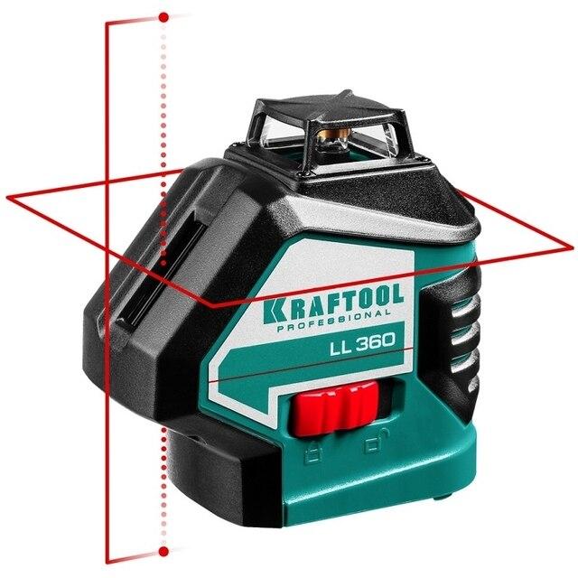 Уровень лазерный автоматический KRAFTOOL LL360-2 (построение вертикаль, горизонталь 360, крест, точность 0,2мм-м)