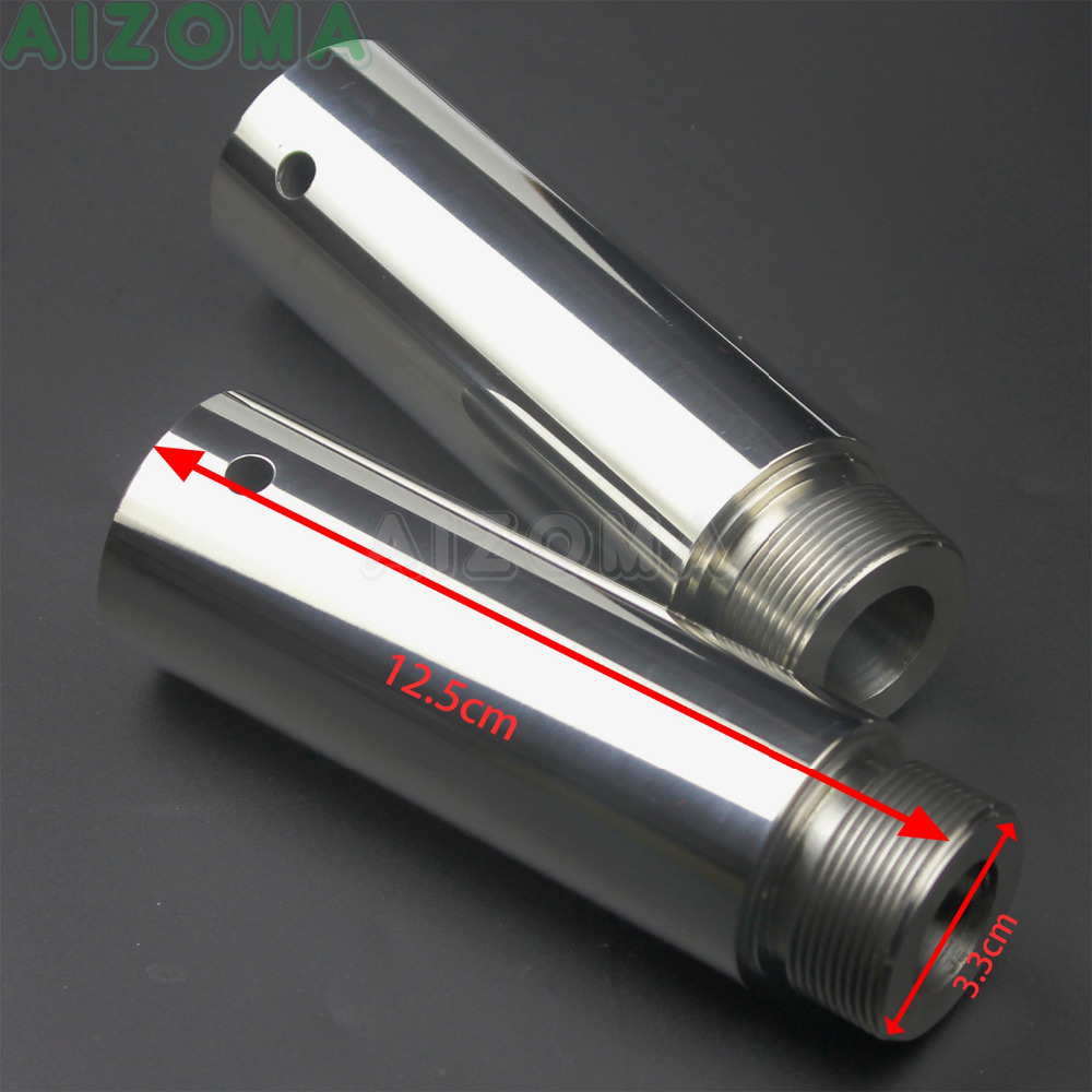 1 paire moto Chrome 39mm fourche Tube 4 ''& 4 pouces Extensions pour Harley Sportster xl1200 xl883 Dyna FXDL FXDB glisse large