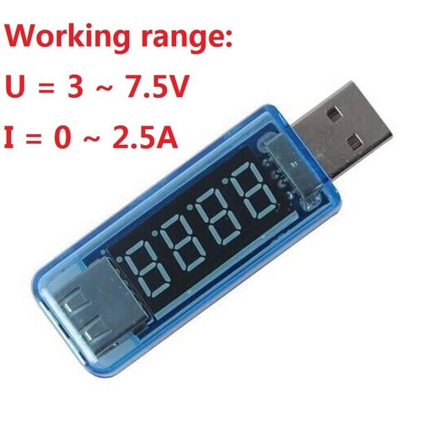 Probador USB 3 en 1 voltímetro DC Digital Amperimetro medidor de voltaje de corriente Amp voltímetro Detector Indicador de coche