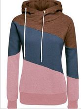 Womens Casual Pullover Funnel Collar Hooded Sweatshirt