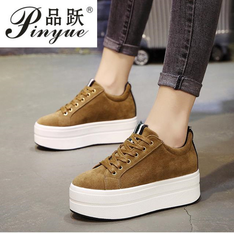 High Heels Ladies Casual Shoes 2018 Spring Fashion Lace-Up Womens Shoes British Style Women Sneakers Autumn Platform ShoesHigh Heels Ladies Casual Shoes 2018 Spring Fashion Lace-Up Womens Shoes British Style Women Sneakers Autumn Platform Shoes