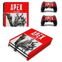 APEX Legends PS4 Pro Skin Sticker Decal for Sony PlayStation 4 Console and 2 Controller PS4 Pro Skin Sticker Vinyl