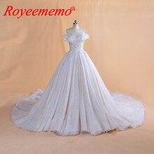 2019 New Design glitter lace top do vestido de casamento real imagem Vestido de Noiva especial preço de fábrica feita por atacado vestido de noiva