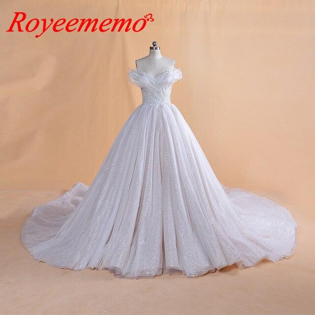 2019 تصميم جديد بريق الدانتيل فستان الزفاف خاص أعلى ثوب زفاف صورة حقيقية مصنع صنع سعر الجملة فستان الزفاف