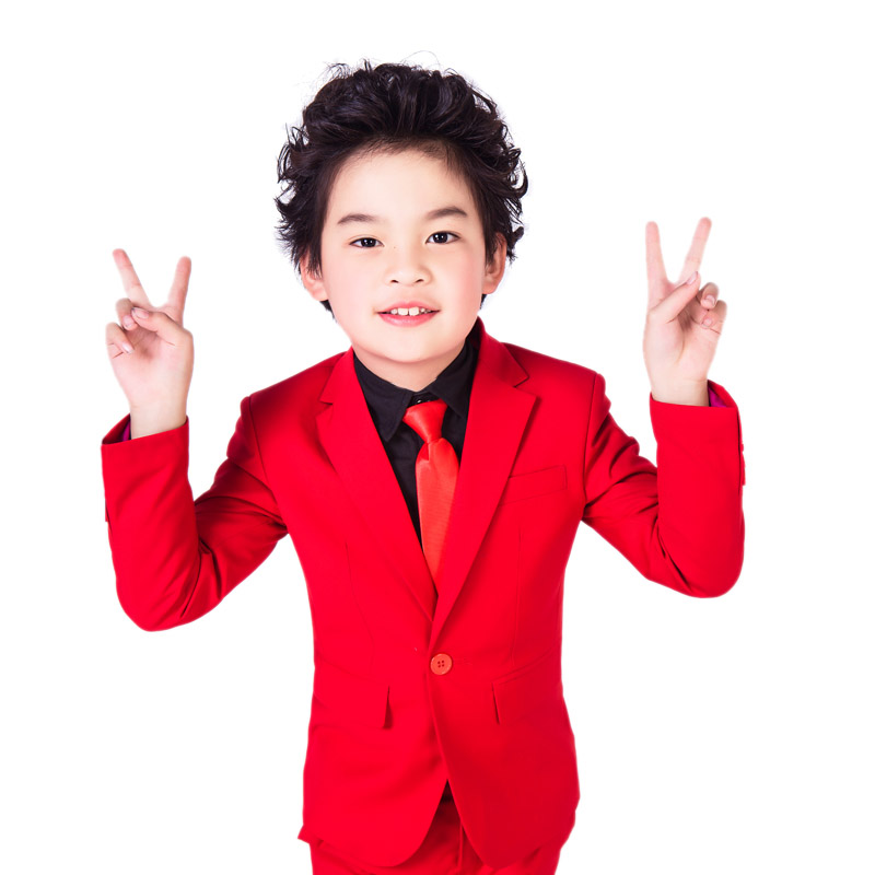 2016 Fashion And Elegant Honorable Lapel Kid Tuxedos Boy S Worsted Red Color Regular Special Wedding Boys Attire Suits In From Weddings