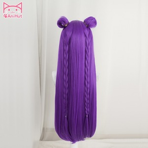 Image 3 - 【Anihut】LOL Game Cosplay Wig KDA POP/STAR Kaisa  Cosplay Wigs Women Long Straight Purple Wig LOL KDA Kaisa KPOP SKIN Hair