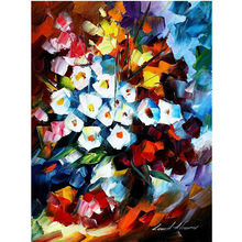 High Quality Hand Painted Modern Oil Painting For Home Hotel Decoration Wall Art Gift Red White Flower With No Framed