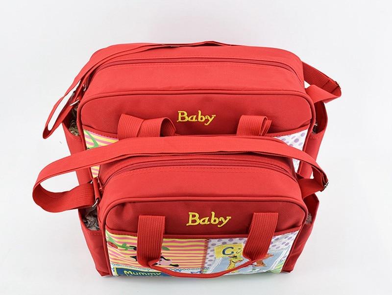 MOTOHOOD 4pcs Baby Diaper Bag Sets For Mom Cute Animal Baby Stroller Bag Organizer Fashion Maternity Bags Handbags For Moms (6)