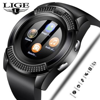 c55881cf6826 En este momento 2019 nuevo reloj inteligente de moda de los hombres de  deportes del podómetro reloj de Fitness información recordatorio tarjeta  sim reloj + ...
