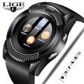 LIGE 2019 Новые смарт-часы мужские модные спортивные часы с шагомером фитнес-часы информация напоминание поддержка sim-карты Relogio + коробка