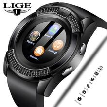 LIGE 2019 New Smart Watch Men Fashion Sports Pedometer Clock Fitness Information Reminder Support sim card Relogio +Box