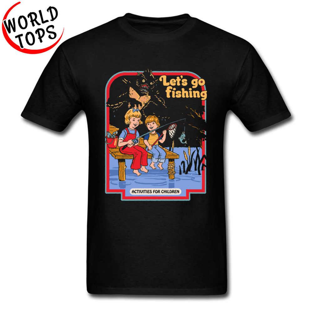 448e14b7b Lets Summon Demons Fish T-Shirts Funny Cartoon Boy Tshirt New Fashion Clothing  Shirts Memory