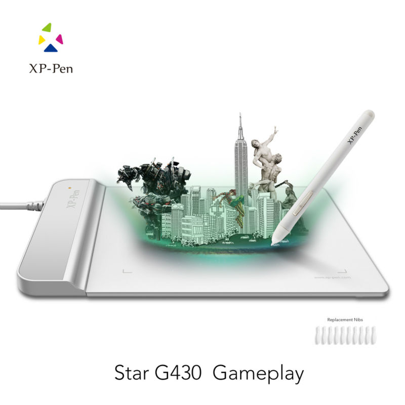 The XP-Pen G430 4 x 3 inch Ultrathin Graphic Drawing Tablet for Game OSU