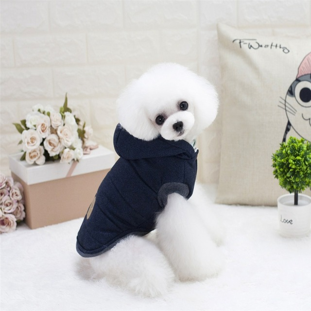 Hooded Style Pet Dog Thick Winter Coat
