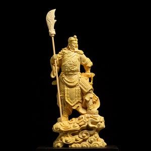 Image 2 - 16 ซม.ประตูพระเจ้าGuan Gong Figurine Guan Yuรูปปั้นรูปปั้นไม้บ้านDecors Roomไม้ประวัติศาสตร์จีนตัวเลขของขวัญLucky Fortu