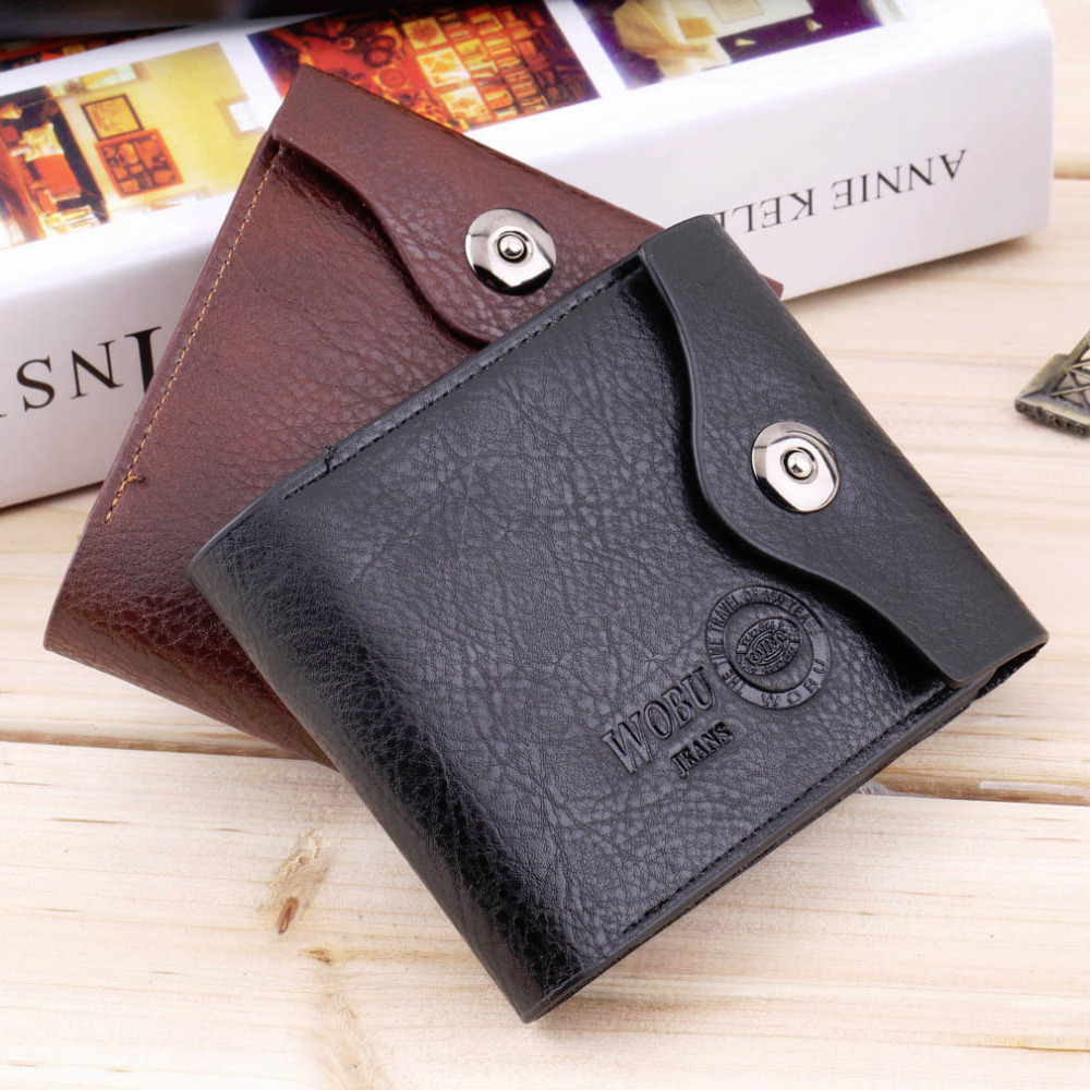 все цены на 2 Color Gift 2016 Men's PU Leather Credit/ID Card Bifold Wallet Holder Slim Purse new arrival for men онлайн