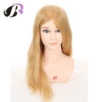 Новый продукт профессионального Stlye манекен Учебные головы манекены для парикмахерских обучение с 100 человеческих волос манекен голова