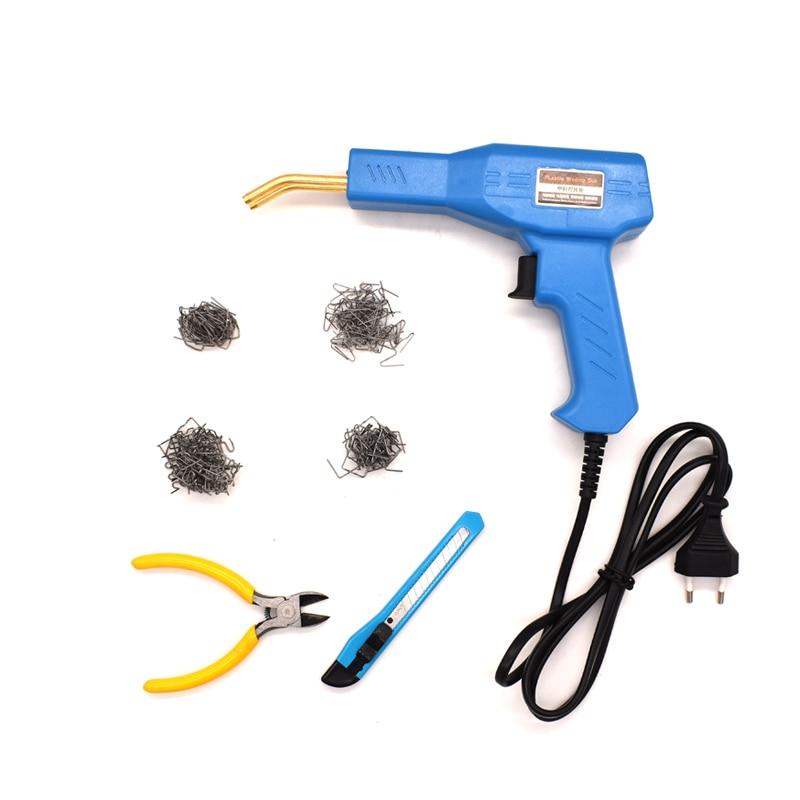 Mini Car Bumper Welder Gun Hot Stapler Plastic Repair Tool Kit