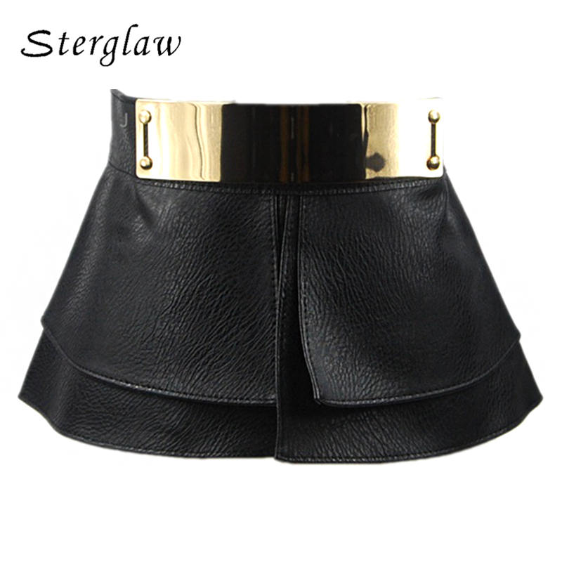 2018 Top Female Mirror Buckle Belts For Women Decorative Corset Belt Lady Leather Skirt Style Ladies Wide Womens Ceinture A007