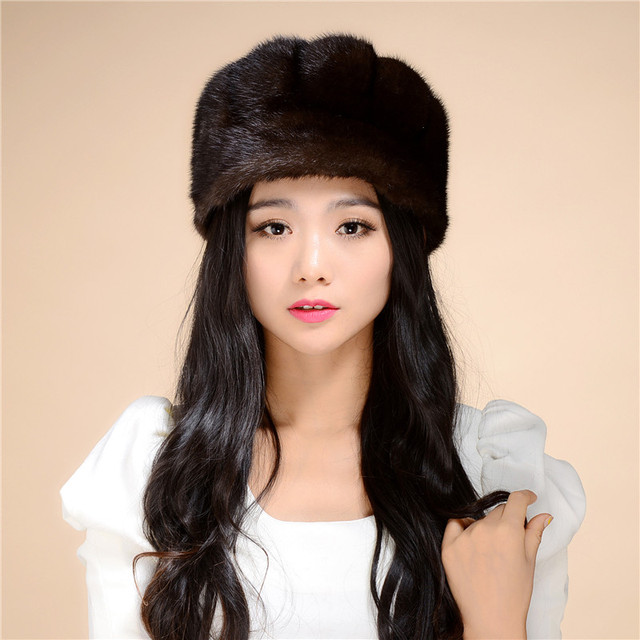 Factory outlet Lady's the new mink fur mink hat knit cap children winter thickening warm winter hat free shipping/1color.#SD23