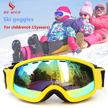 BENICE Kids Boys and Girls Ski Goggles With Dual Lens Anti-Fog UV Protection Winter Snow Sports Snowboard Goggles SK-4600