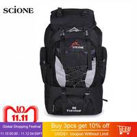 Backpacks 80L Camping Hiking Backpack   Bag   Outdoor Sports   Bags   Travel Waterproof Shoulder Men Climbing Fishing Rucksack XA535WA