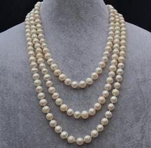 """Charming 72"""" Long Pearl Jewelry,7-8 mm White Freshwater Pearl Necklace, Natural Pearl,Bridesmaid ,Wedding Gift For Woman"""