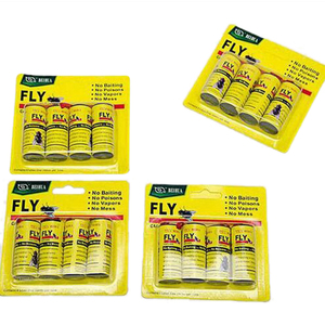 Image 1 - 16 Rolls Insect Bug Fly Glue Paper Catcher Trap Ribbon Strip Sticky Fies YH 460261