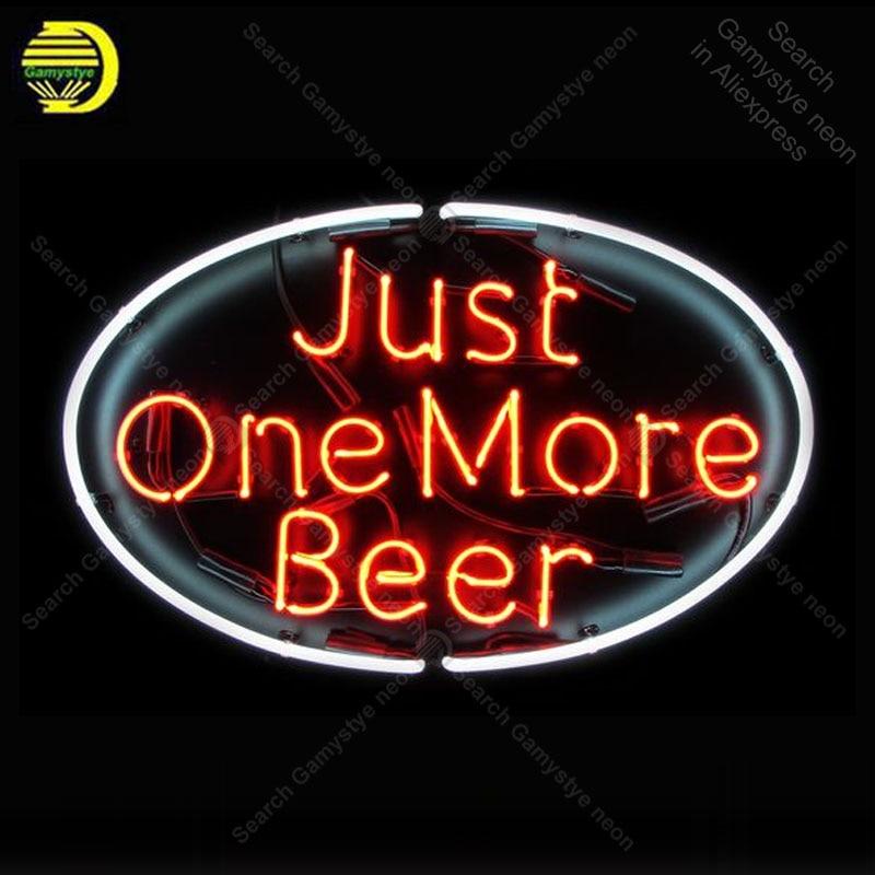 Enseigne au néon pour juste une bière de plus néon lampe Pub affichage bière Express boutique néon éclairer enseigne murale enseigne au néon pour la chambre Letrero