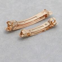 Grampo de cabelo em branco do tamanho do grampo 4 5 6 7 8 10 cm das barrettes francesas da cor do ouro de 10 pces kc para a joia do cabelo que faz acessórios fornecedor