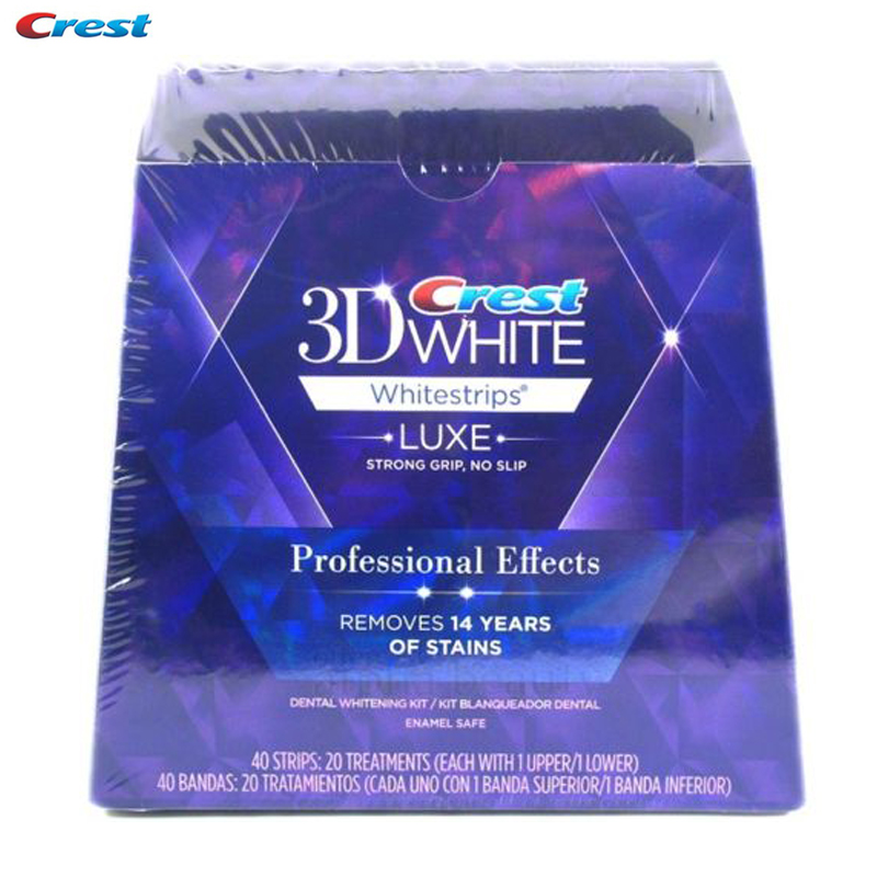 Crest 3D White Whitestrips Teeth Tooth Whitening Strips Luxe Professional Effects Dental Oral Hygiene 20pouches40strips original professional dental porcelain pan classical 20 colors 3d teeth whitening shade guide clinic tooth whiter effective comparator