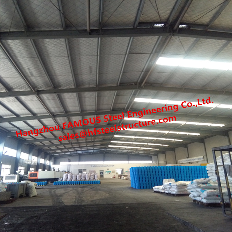 Modern Steel Structural Plant Warehouse For Pesticide Factory With Insulation Sandwich Roof & Wall System In Africa