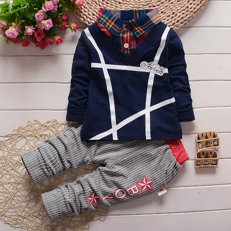c8fe351858a32 BibiCola Boy clothes fashion baby boy clothing sets kid Full clothes +  trousers suit for children boys Outfits bebe clothing set