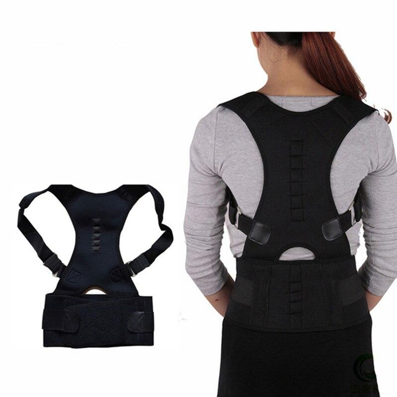 Magnetische Haltung Corrector Brace Schulter Zurück Unterstützung für mann frauen gürtel Hosenträger Unterstützt Schulter gürtel Haltung korrektur