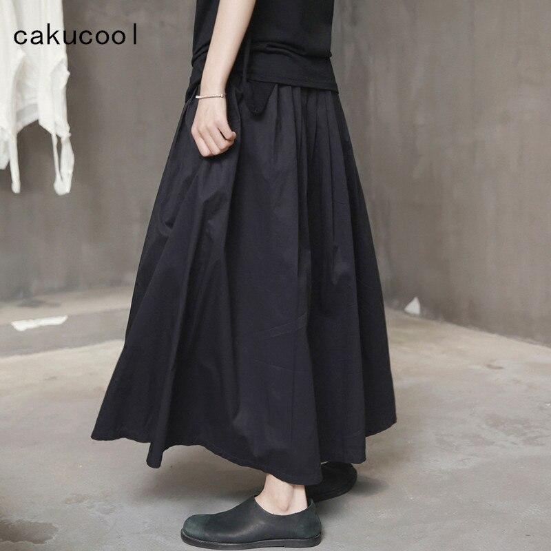 Plisados Faldas Japón Línea Panel Largo Algodón Maxi Casual Nuevo Una Mujeres Cakucool Falda Diseño Negro Tamaño Imperio fvx6BSwq