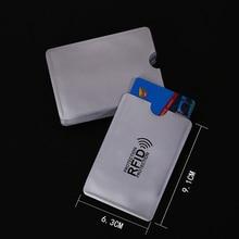 5pcs/lot Anti Rfid Wallet Blocking Reader Lock Bank Card Holder Id Case Protection Metal Credit Aluminium