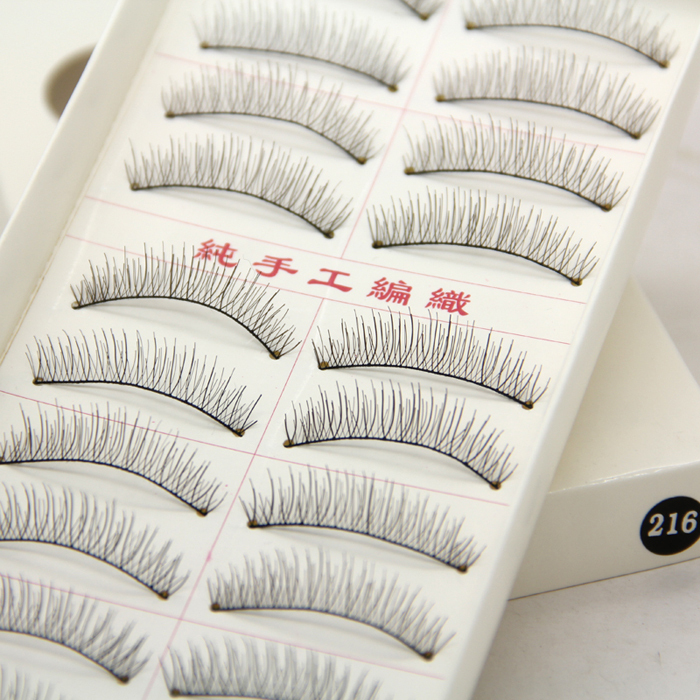 10 Pairs Natural False Eyelashes Handmade Full Strip Eye Lashes Short Thick Charming Fake False Eyelash Extension In TaiWan