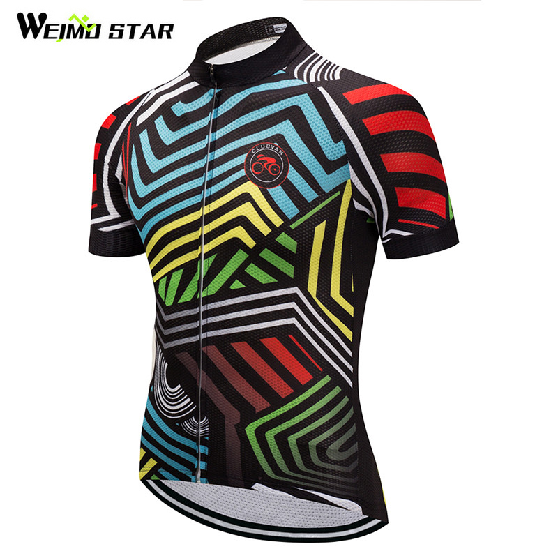Weimostar 2019 Cycling Jersey Summer Short Sleeve Racing Sport Bicycle Clothing Ropa Ciclismo Breathable mtb Bike Jersey Shirt