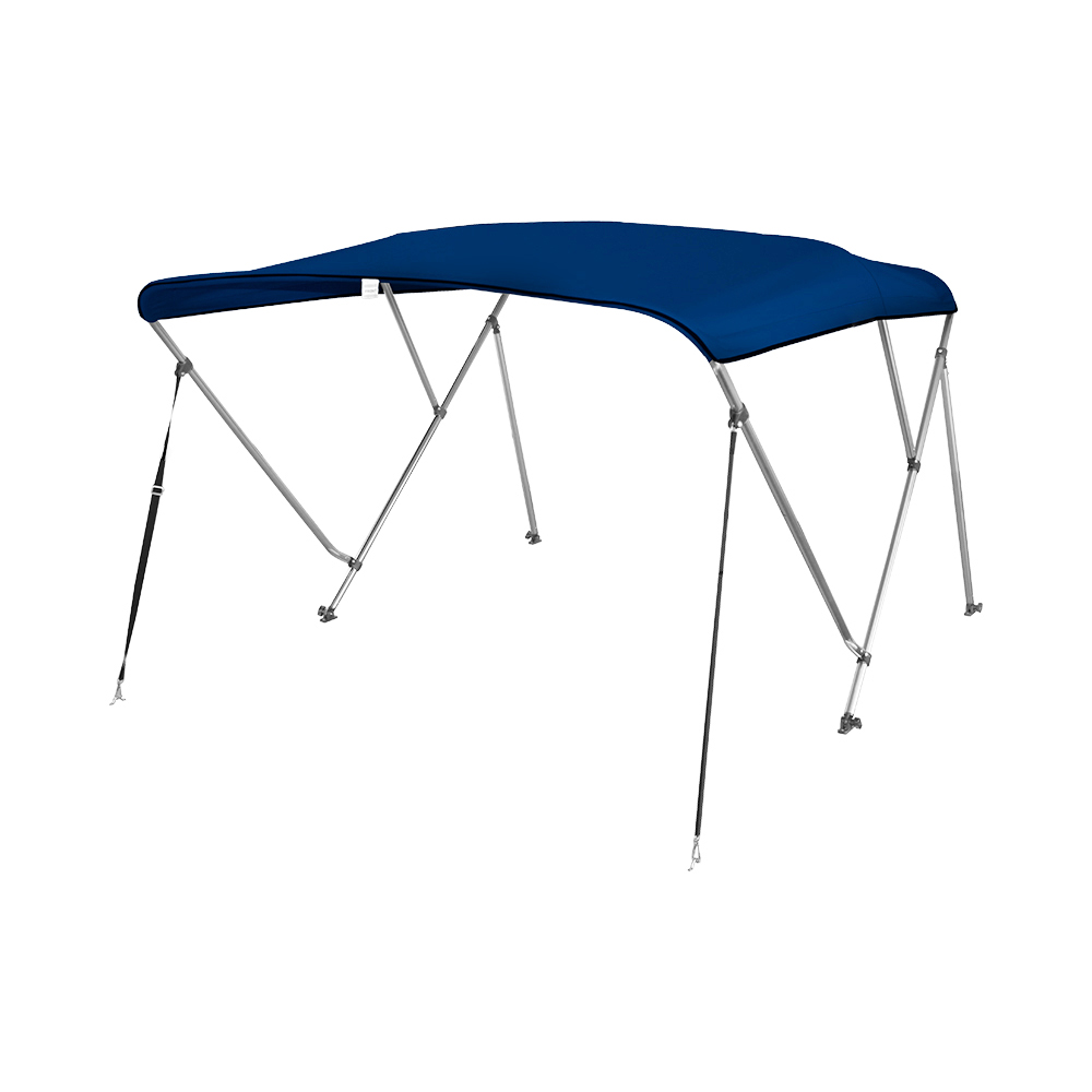 3 Bow Aluminum 25mm Round Tubes Bimini Top UV Waterproof 600D Boat Cover With Boot And Hardware,6'x61-66