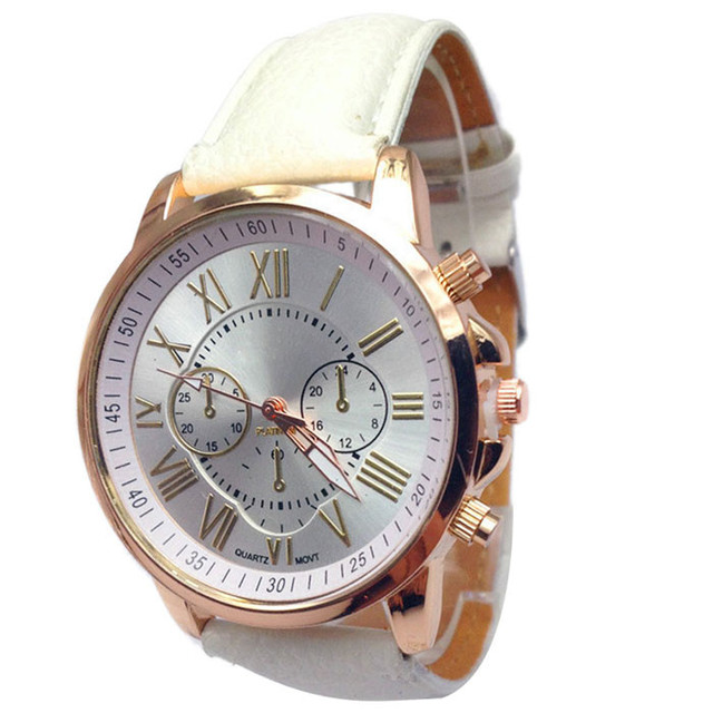 2018 New Fashion Jeans Casual Women Wristwatch Leather Strap Bracelet Watches Re