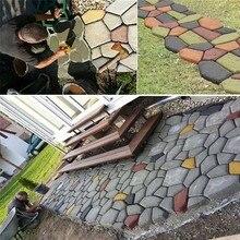 Сад DIY Пластиковый путь производитель тротуара модель бетон шаговый камень цемент плесень кирпич Прямая поставка