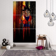 Modular Animation Poster On Canvas Printing Type Picture Modern Home Wall Art Decorative 3 Panel Dragon Ball Goku Painting