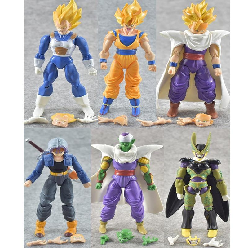 Action & Toy Figures 14-16cm 6pcs/set Dragon Ball Z Kids Figure Toys Dragon Ball Dbz Anime Goku Vegeta Gohan Super Saiyan Joint Movable Action Figure