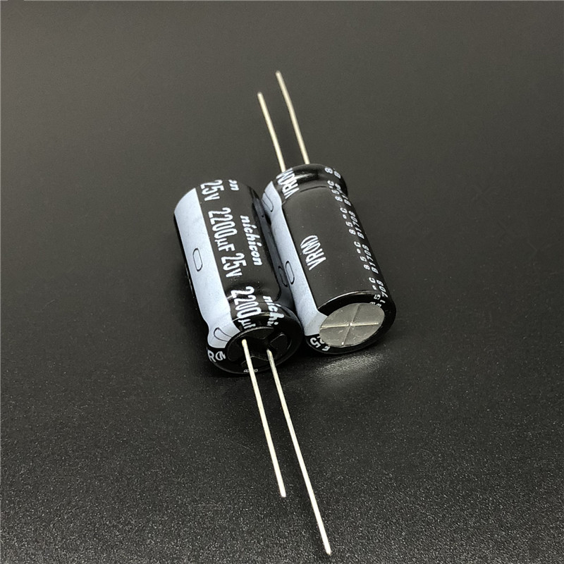 5pcs/50pcs 2200uF 25V NICHICON VR Series 12.5x25mm 25V2200uF Standard Aluminum Electrolytic Capacitor