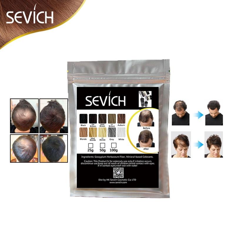 100g SEVICH keratin Haar Faser Gebäude Verdünnung Haarausfall Farbstoff Styling Pulver Haar Pflege Fibre Refill Spray Applikator 10 farben