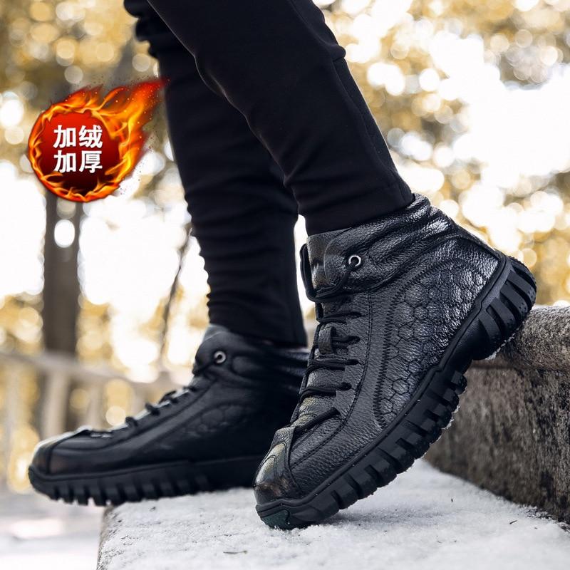 Do marrom Dos Novos Neve Alta Up Boots Vintage Preto Couro Botas Qualidade Calçado Ankle De Moda Lace Homens Homem Inverno Sapatos Genuíno nUxWUr1SXq
