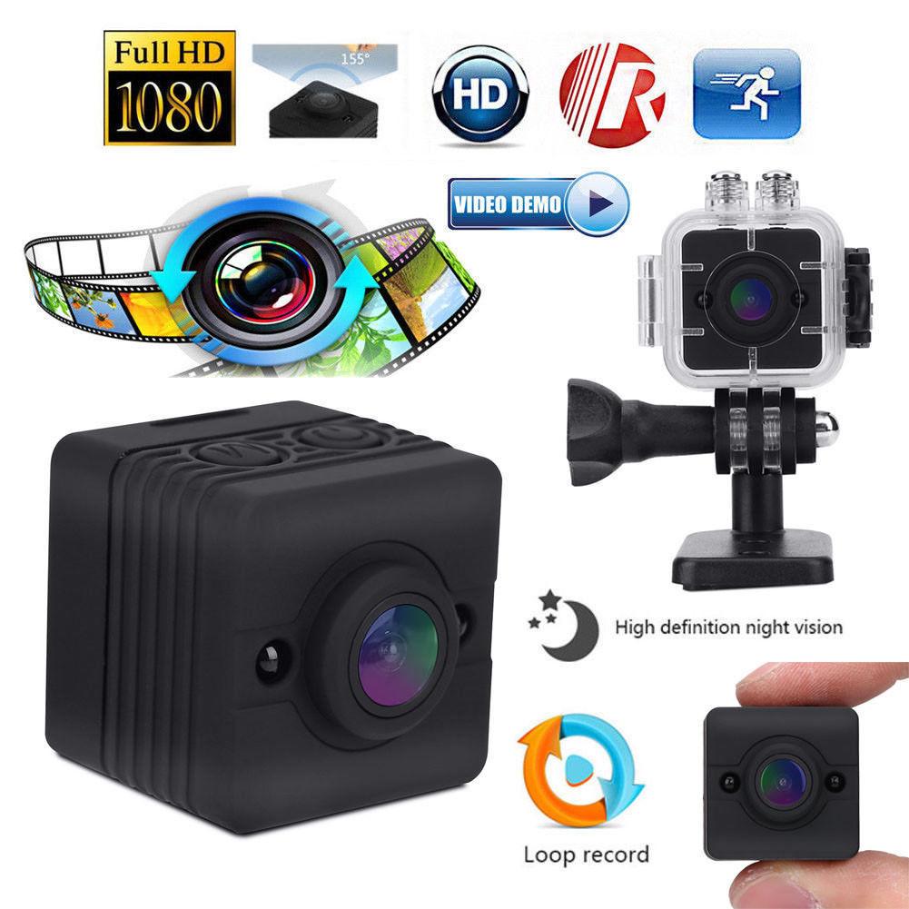 16 GB carte + SQ12 Mini caméra 1080 P FHD Sport caméra caméscope Vision nocturne étanche
